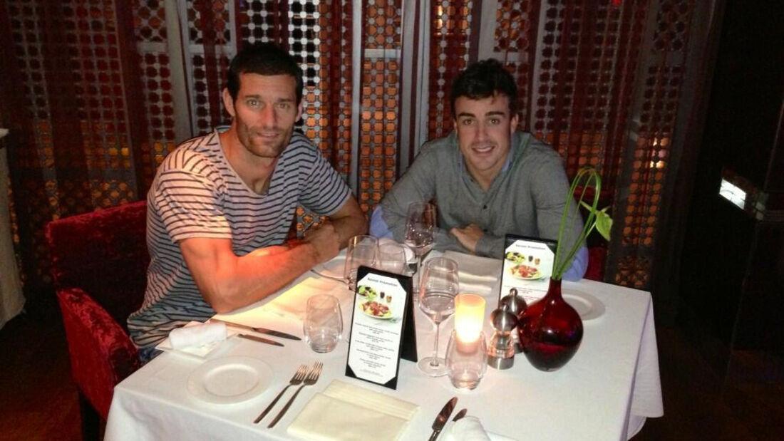 Alonso & Webber - Dinner 2013