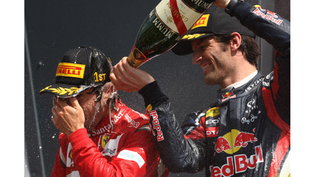 Alonso Webber GP England 2011 Rennen