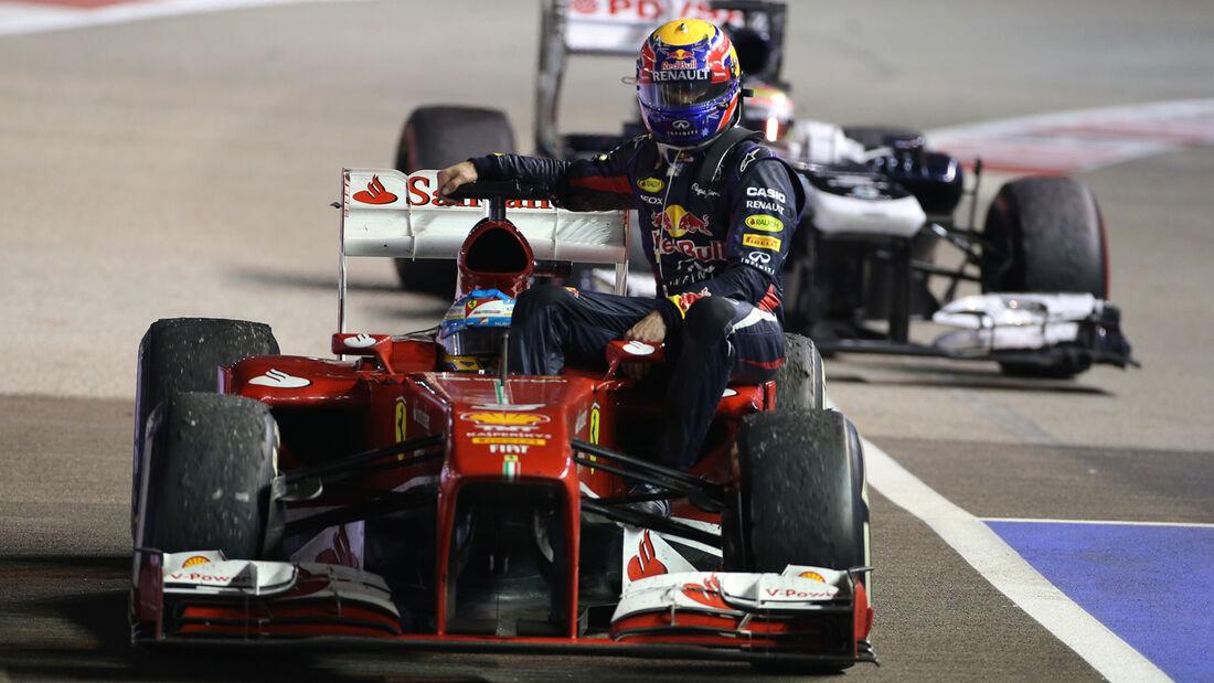 Alonso & Webber - GP Singapur 2013