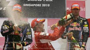 Alonso, Webber und Vettel