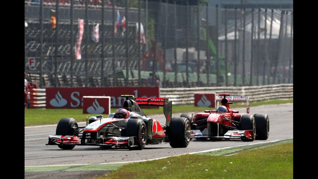 Alonso vs. Button GP Italien Monza 2011