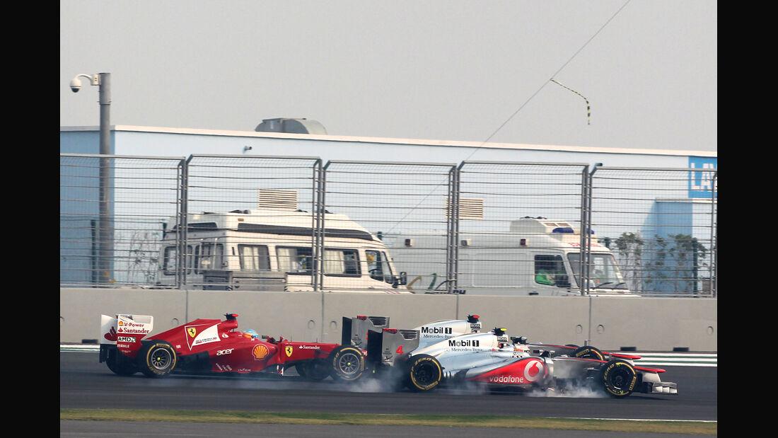 Alonso vs. McLaren GP Indien 2012