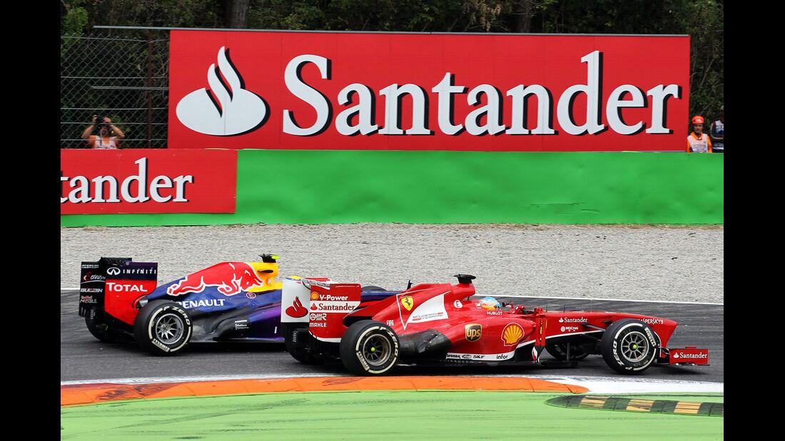 Alonso vs. Webber - Formel 1 - GP Italien 2013