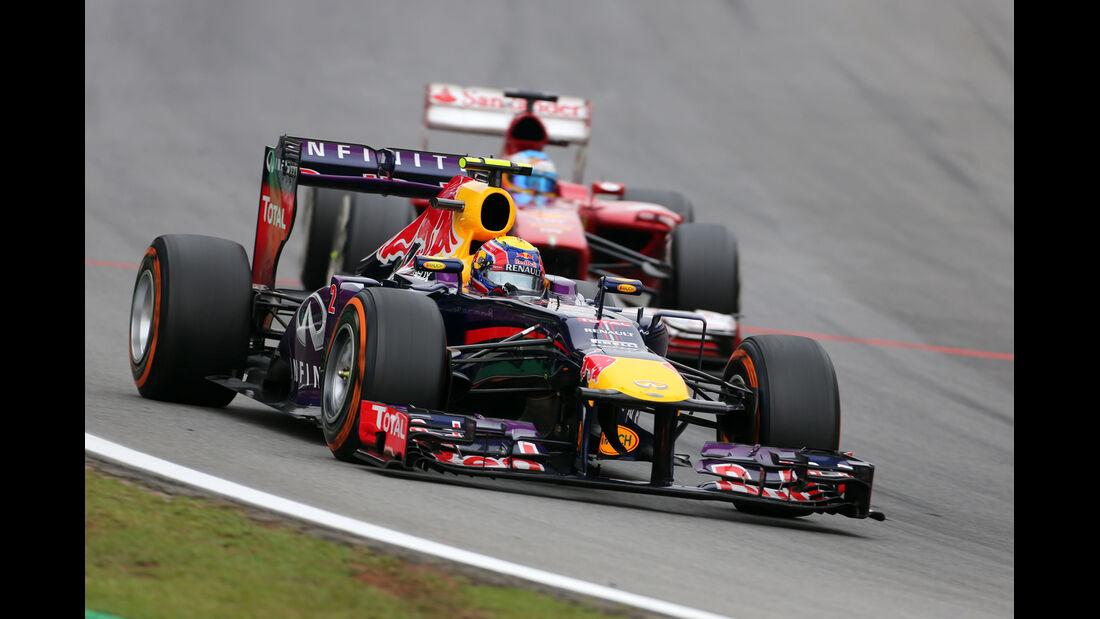 Alonso vs. Webber - GP Brasilien 2013