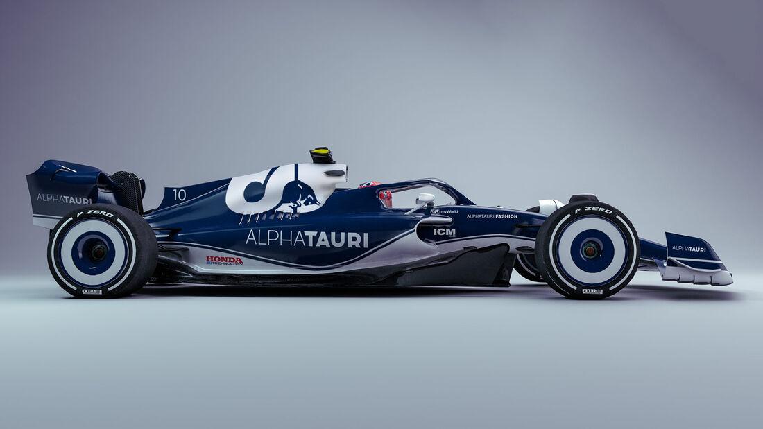 Alpha Tauri - F1-Auto 2022 - Team-Lackierung