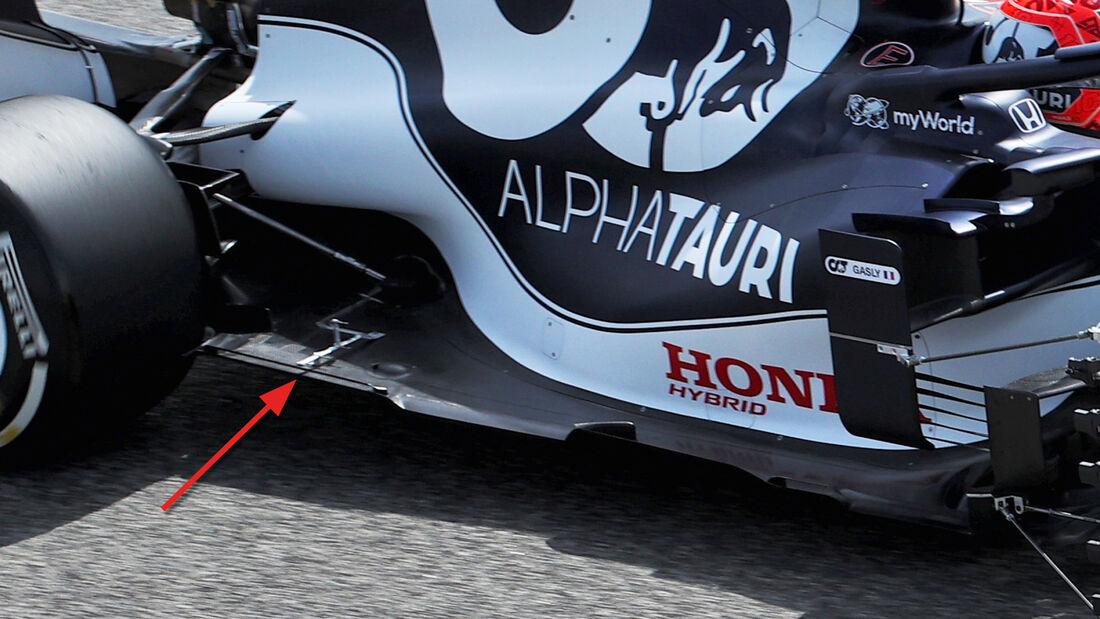 Alpha Tauri - Unterboden - F1-Test - Bahrain - 2021