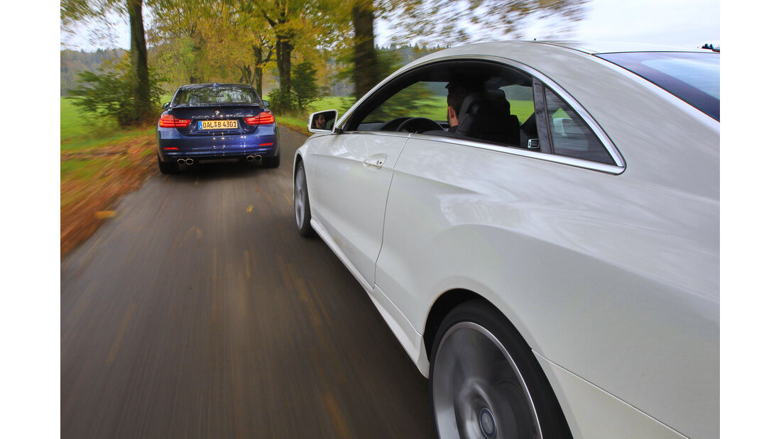 Alpina B4 Biturbo Coupé Allrad, Mercedes E 500 Coupé, Ausfahrt
