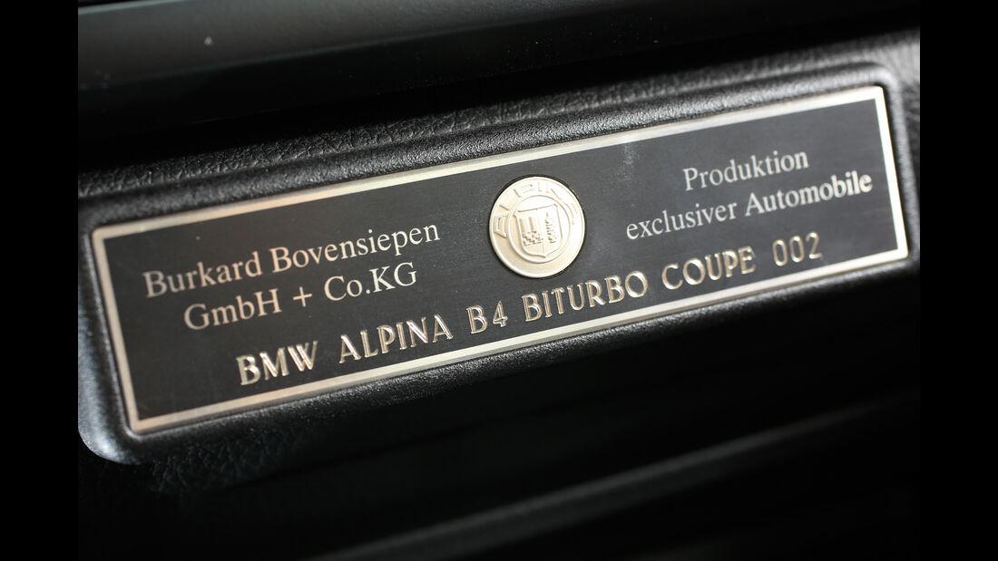 Alpina B4 Biturbo Coupé, Plakette