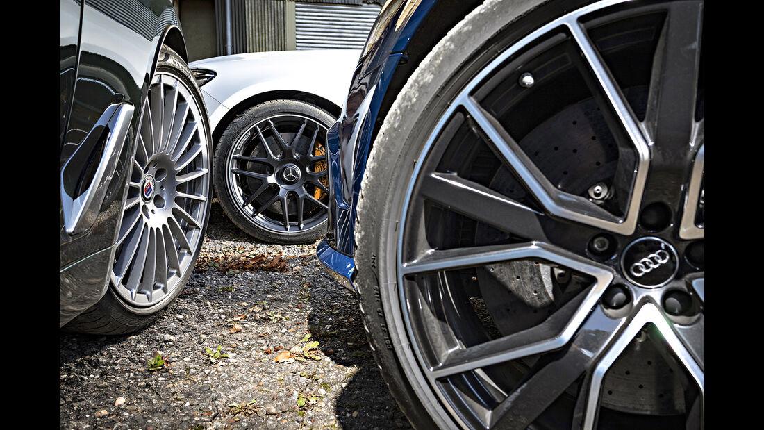 Alpina B5 Biturbo Touring, Audi RS6 Avant Performance, Mercedes-AMG E 63 S T-Modell, Felgen