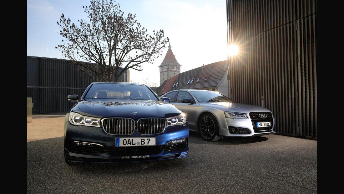 Alpina B7 Biturbo, Audi S8 Plus, Frontansicht