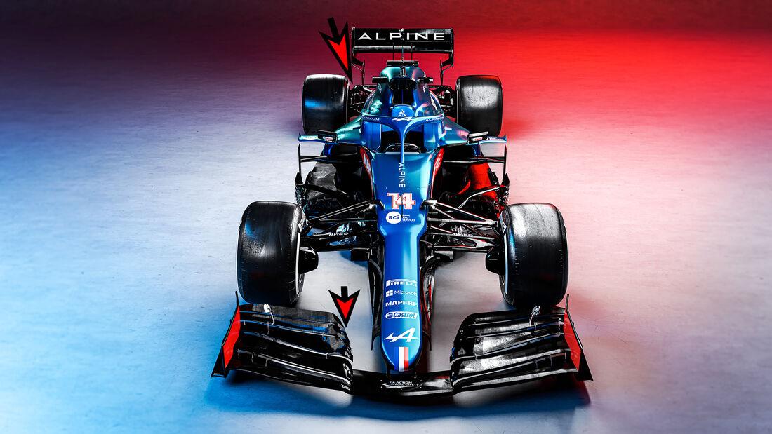 Alpine A521 - Formel 1 - Technik - 2021