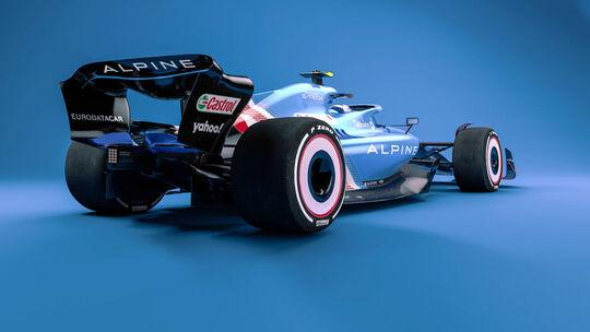 Alpine - F1-Auto 2022 - Team-Lackierung