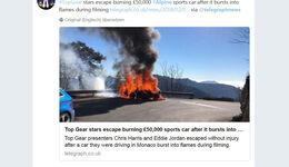 Alpine Feuer Top Gear Twitter
