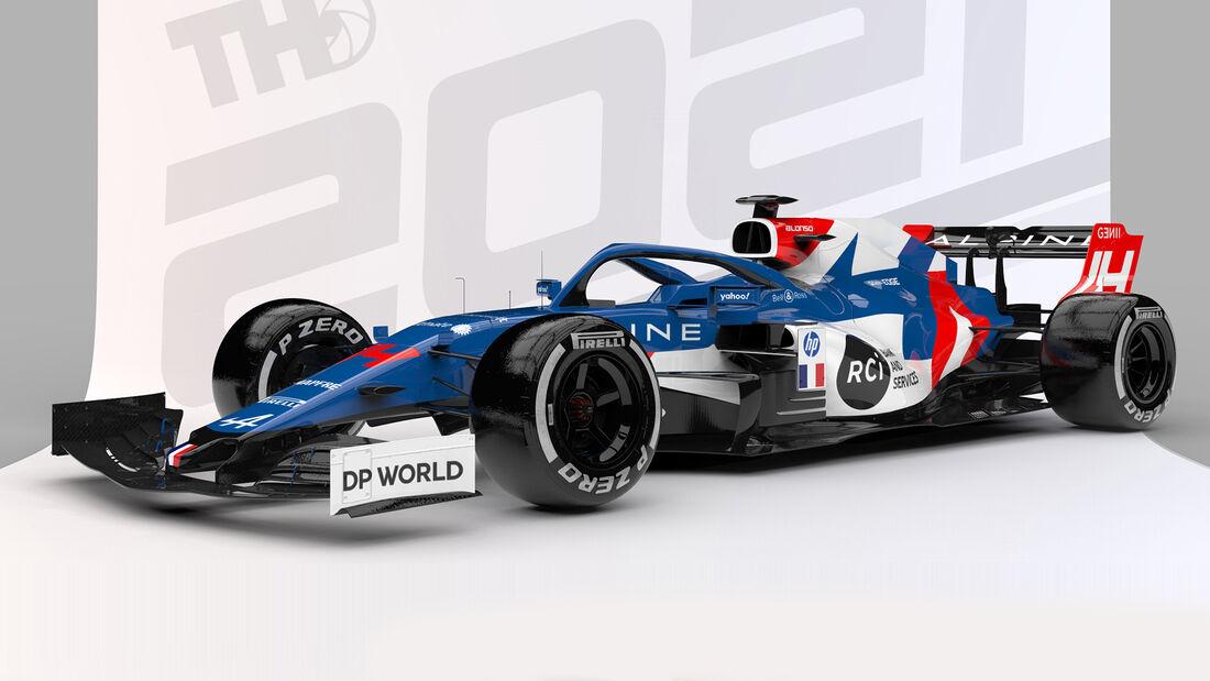 Alpine - Formel 1 - Livery-Concept 2021 - Tim Holmes Design