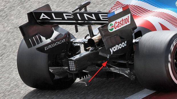 Alpine - Hinterradaufhängung - F1-Test - Bahrain - 2021