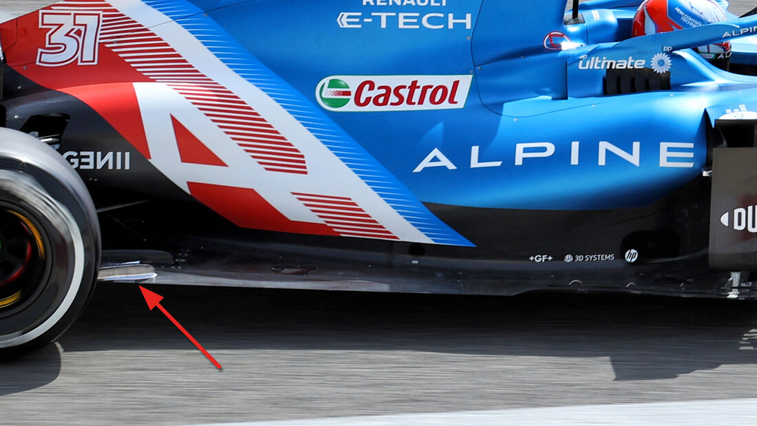 Alpine - Unterboden - F1-Test - Bahrain - 2021