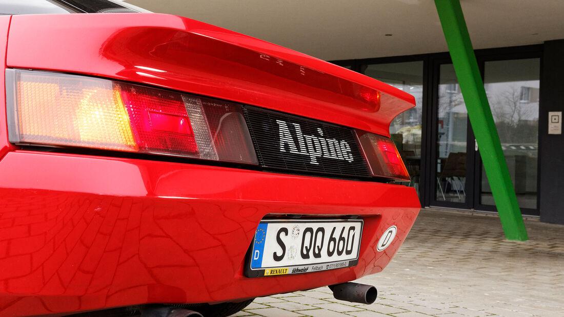 Alpine V6 Turbo, 1990, Heck
