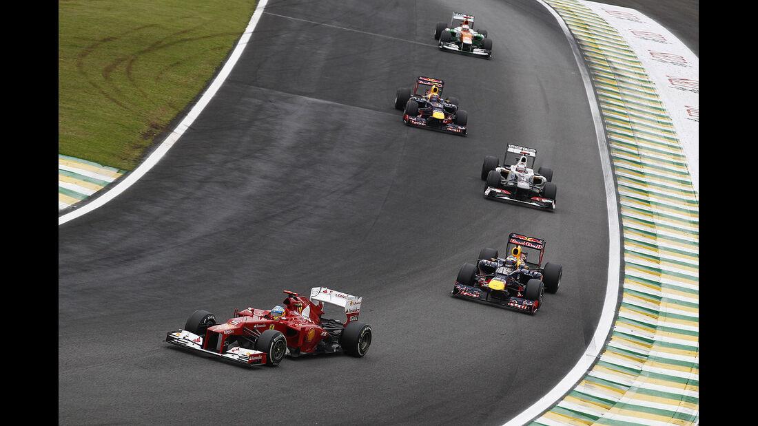 Alsonso Vettel GP Brasilien 2012
