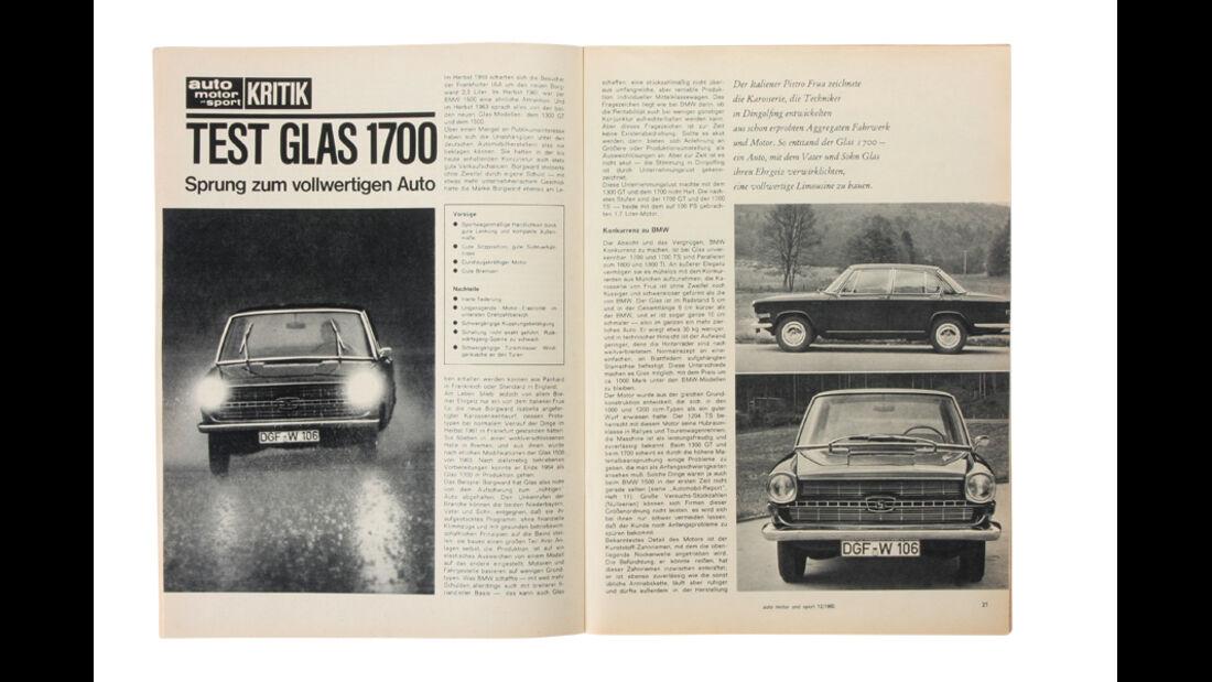 Alter Artikel, Glas 1700