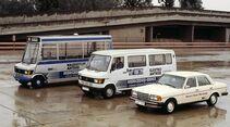 Alternative Antriebe Mercedes-Benz Citybus Wasserstoff Elektro-Transporter W123 Methanol