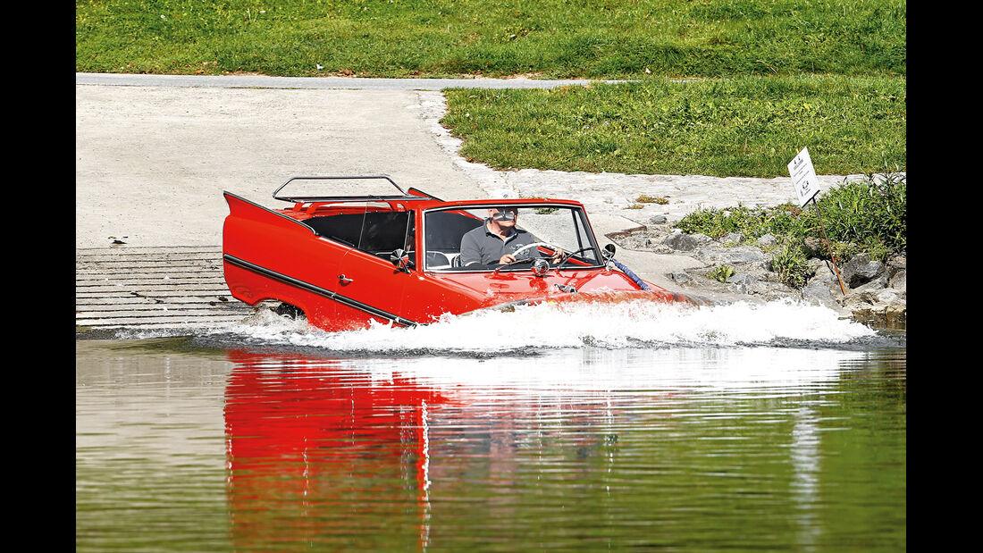 Amphicar 770, Frontansicht, Wassereinfahrt