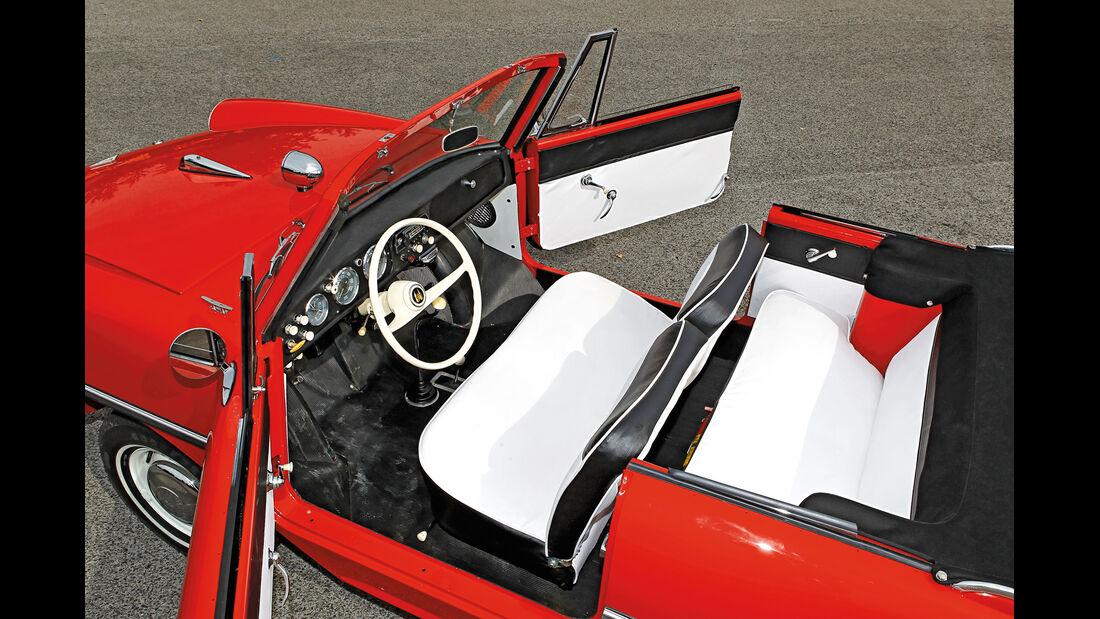 Amphicar 770, Interieur, Draufsicht