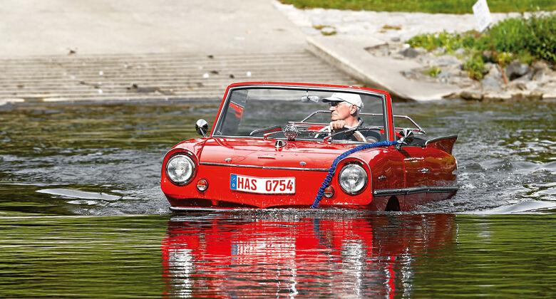 Amphicar 770, Wasserfahrt, Frontansicht