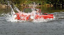 Amphicar 770, Wasserfahrt,Seitenansicht