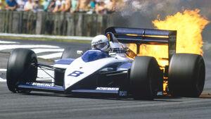 Andrea de Cesaris - Brabham-BMW - Silverstone 1987