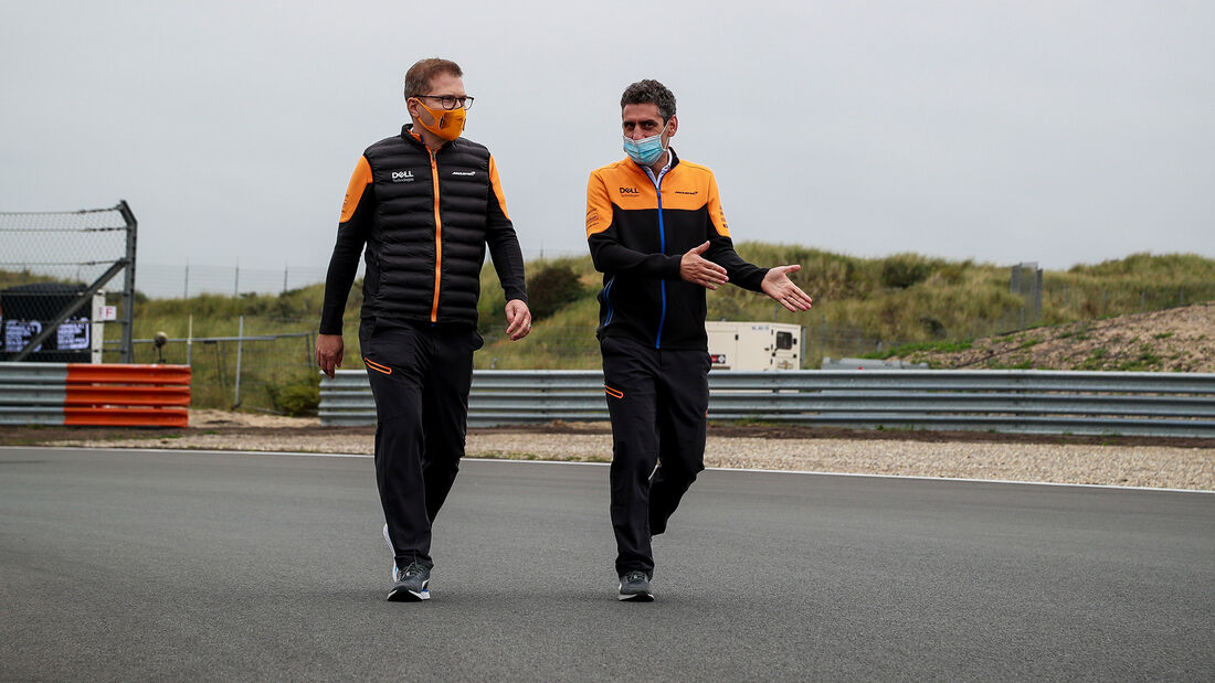 Andreas Seidl & Andrea Stella - McLaren - Formel 1 - GP Niederlande - Zandvoort - 2. September 2021