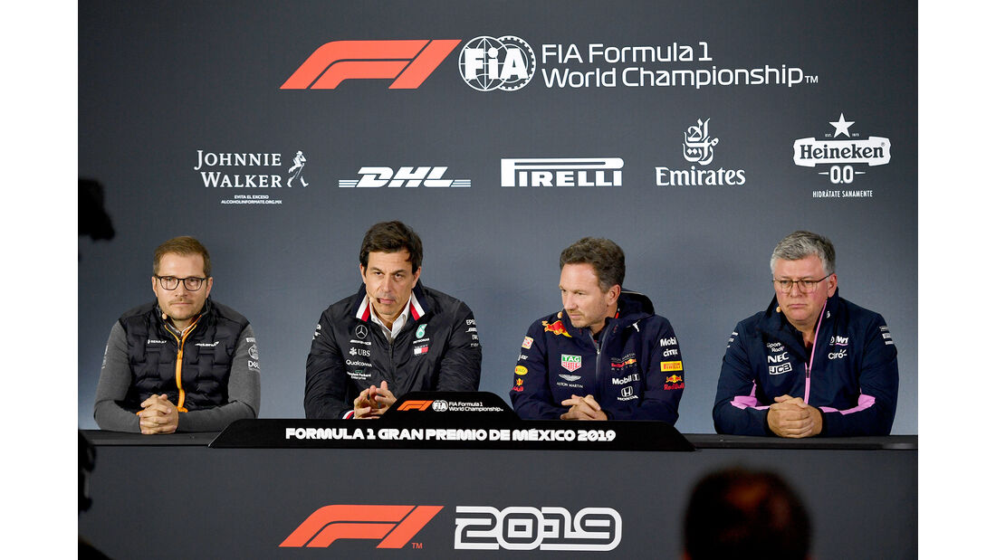 Andreas Seidl, Toto Wolff, Christian Horner & Otmar Szafnauer - Formel 1 - GP Mexiko - 25. Oktober 2019