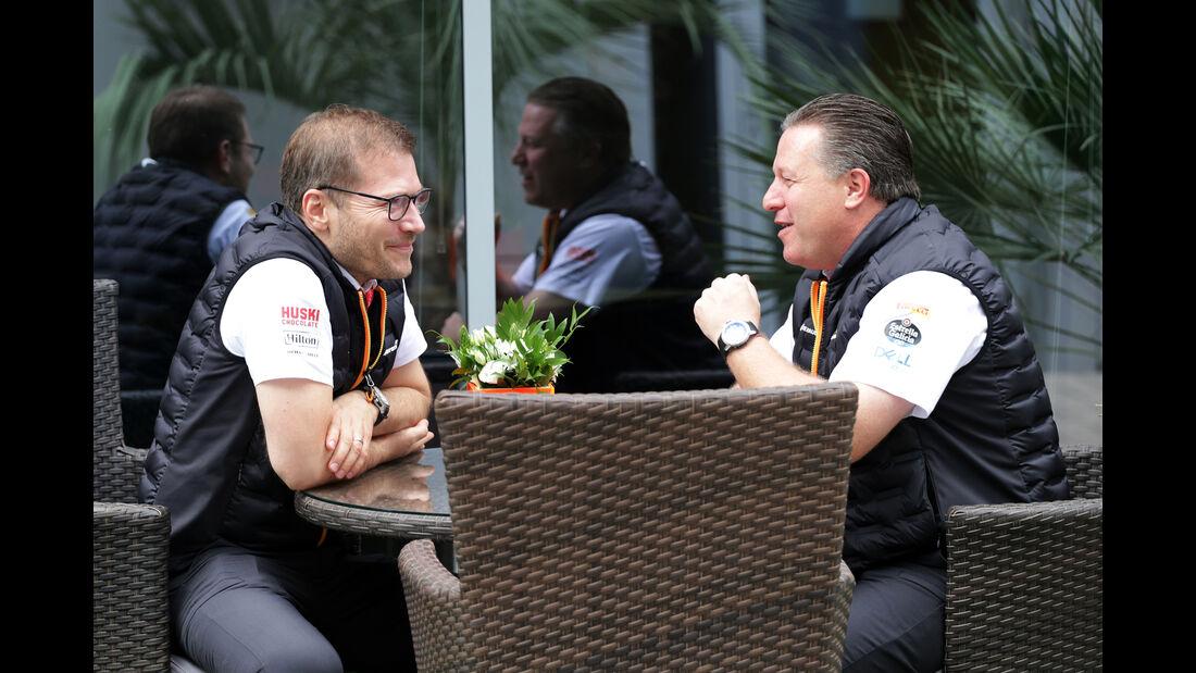 Andreas Seidl - Zak Brown - McLaren - GP Russland - Sotschi - Formel 1 - Freitag - 27.9.2019