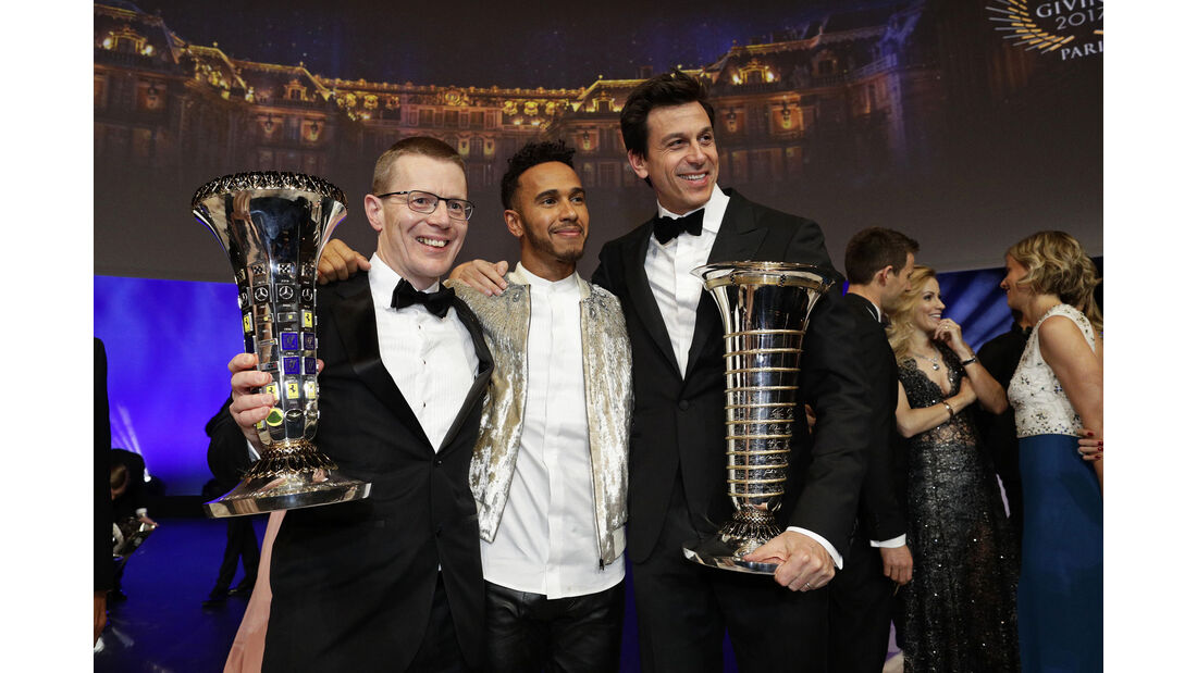 Andy Cowell - Lewis Hamilton - Toto Wolff - FIA Preisverleihung - Versailles