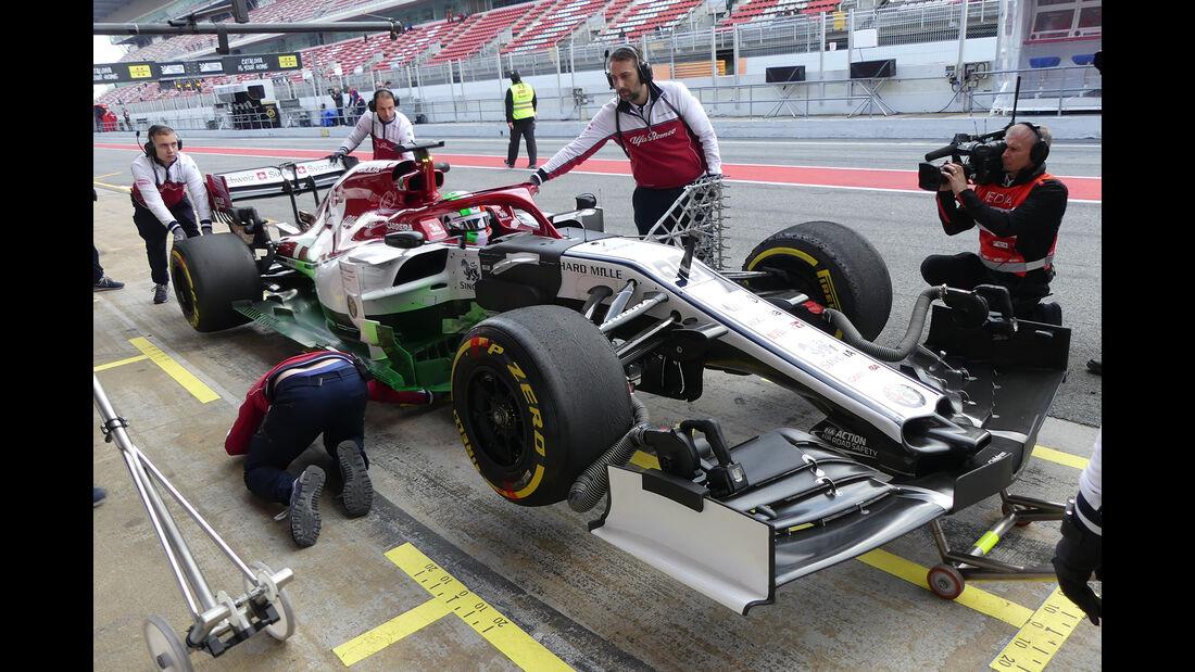 Antonio Giovinazzi - Alfa Romeo - Barcelona - F1-Test - 19. Februar 2019