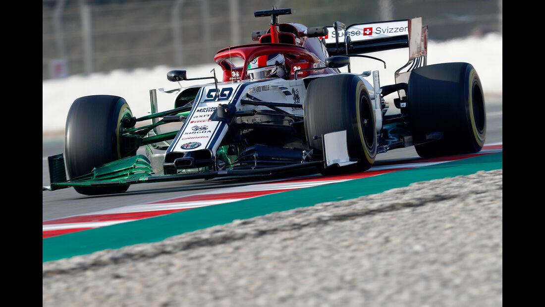 Antonio Giovinazzi - Alfa Romeo - Barcelona - F1-Test - 21. Februar 2019