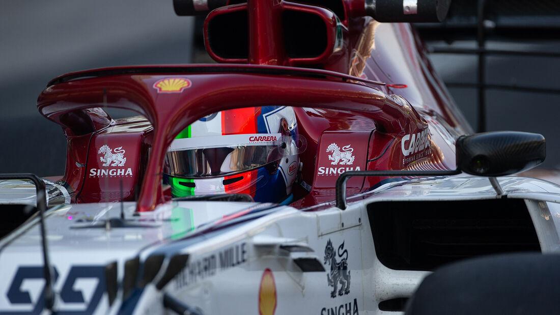 Antonio Giovinazzi - Alfa Romeo - F1-Test - Abu Dhabi - 4. Dezember 2019