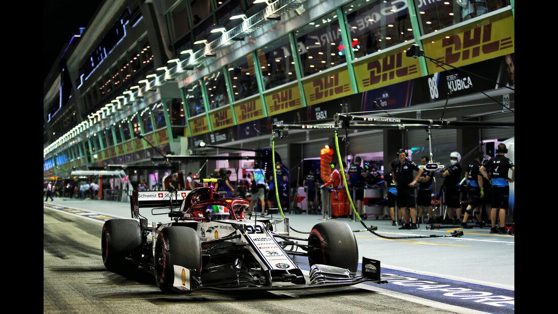 Antonio Giovinazzi - Alfa Romeo - GP Singapur - Formel 1 - Freitag - 20.9.2019