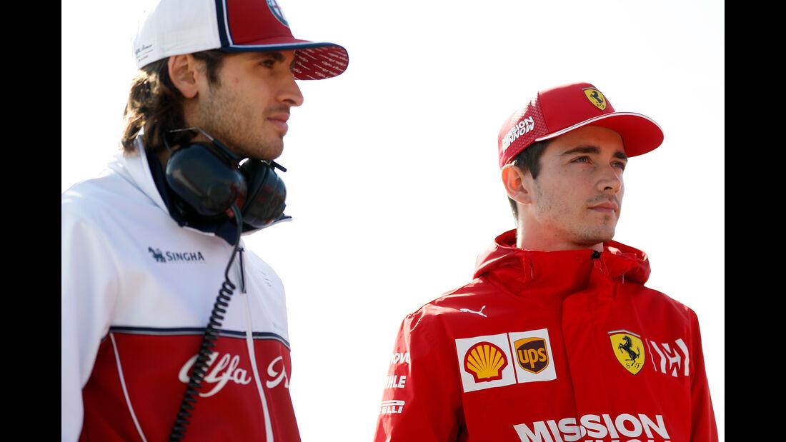 Antonio Giovinazzi & Charles Leclerc - Barcelona - F1-Test - 01. März 2019