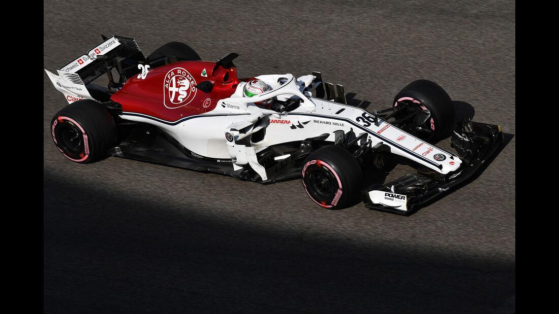 Antonio Giovinazzi - Sauber - F1-Test - Abu Dhabi - 28. November 2018