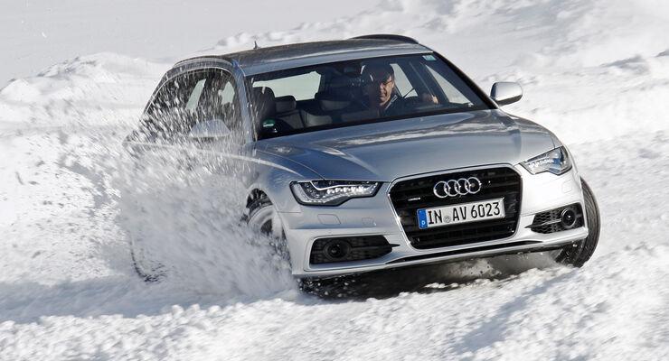 Antriebsarten, Audi quattro, Schnee