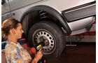 Antriebswellen-Manschetten, Zentralmutter fest