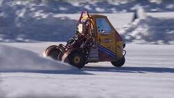 Ape Triumph 675 Motor Snow Drift Schnee