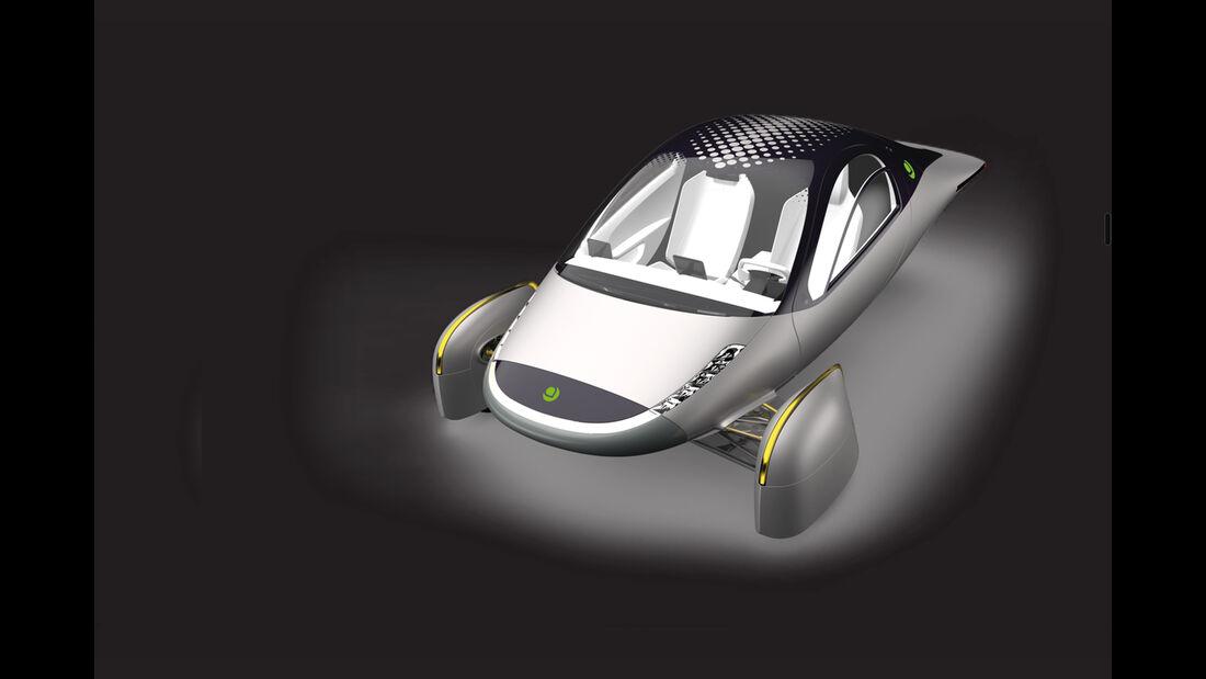 Aptera Konzept 2020 2e Elektroauto Dreirad Reichweite