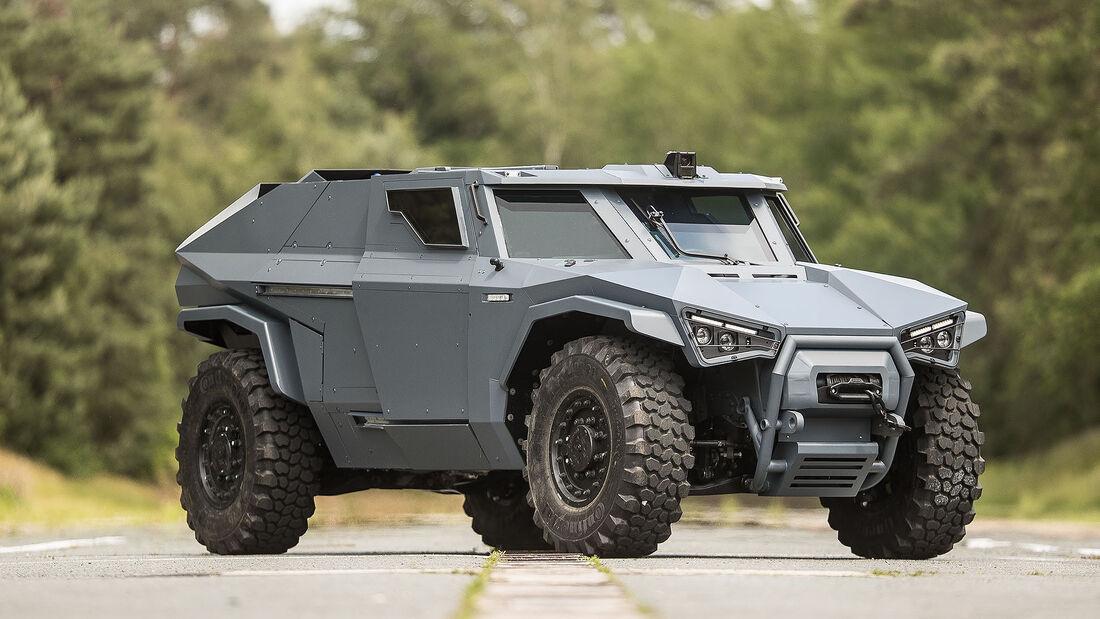 Arquus Scarabee Panzer-Militaerfahrzeug Hybridantrieb