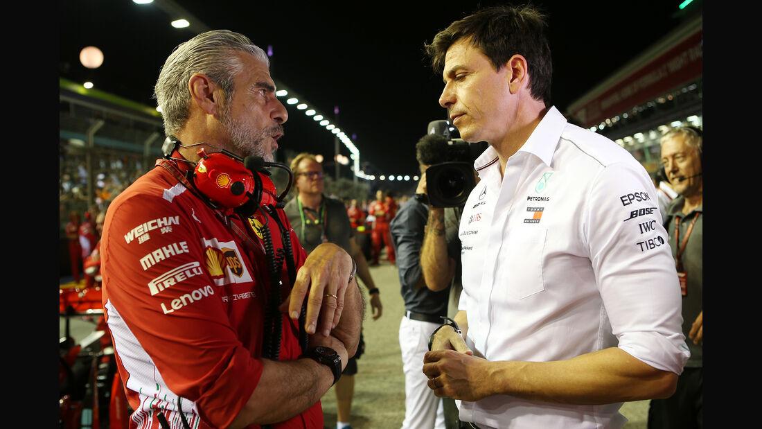 Arrivabene & Wolff - GP Singapur 2018