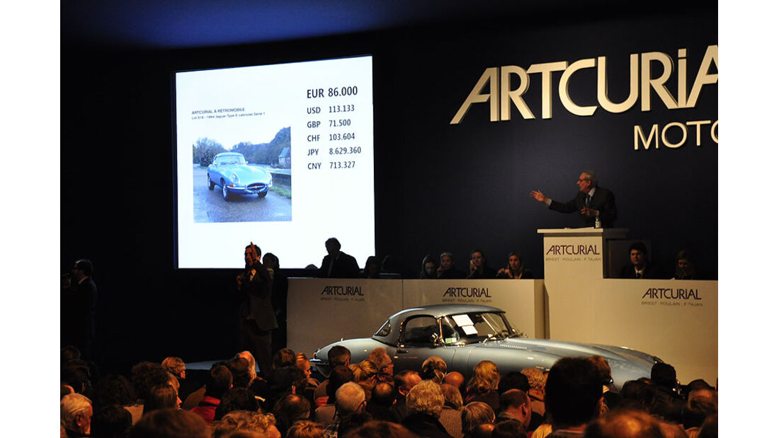 Artcurial Versteigerung 1964 Jaguar Type E 3.8 L Cabrilet Serie 1