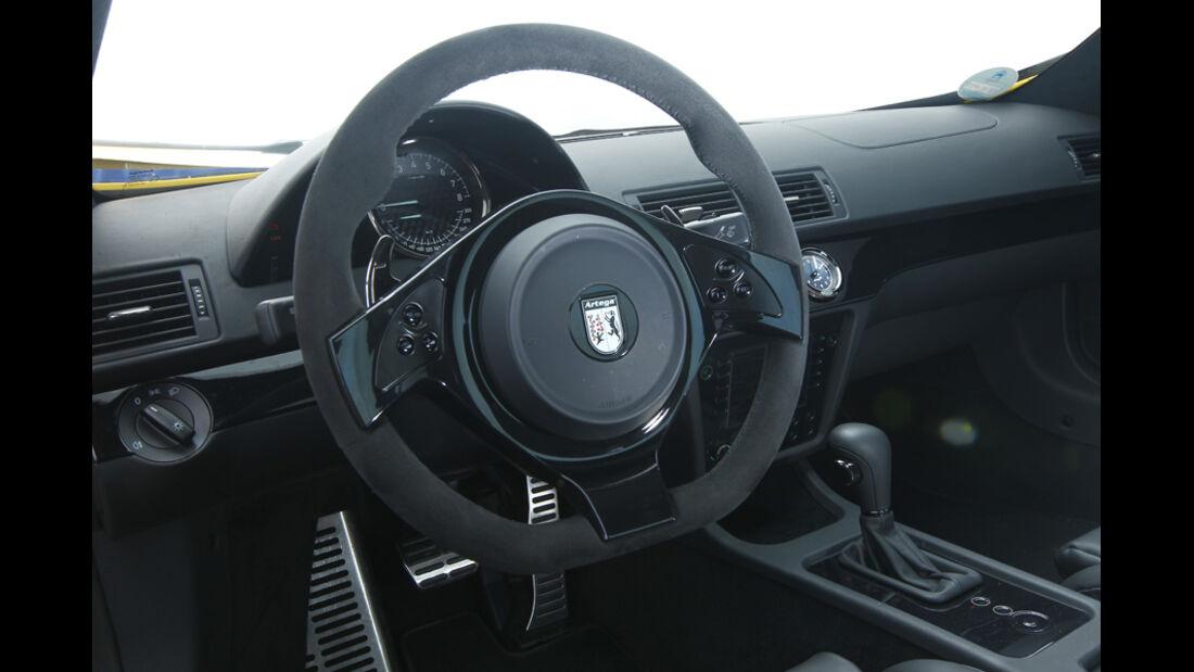 Artega GT, Cockpit, Lenkrad