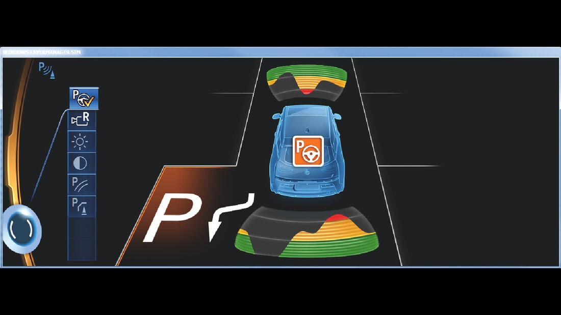Assistenzsysteme, BMW, Parkassistent
