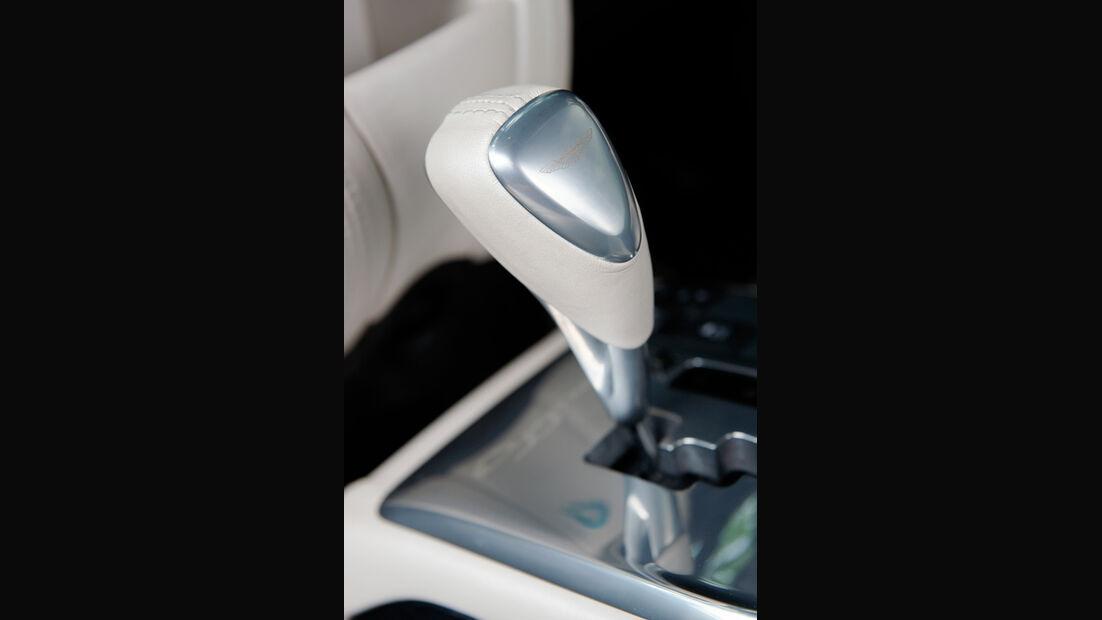 Aston Martin Cygnet, Detail, Schaltknauf, Schalthebel
