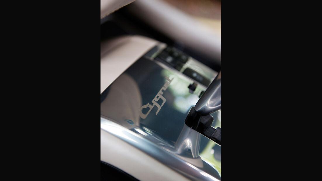 Aston Martin Cygnet, Detail, Schriftzug, Emblem